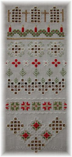Col's Creations - Traditional Hardanger Charts - Christmas Sampler - An Elegant Design For The Festive Season
