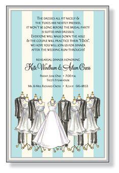 INVITATIONS, WEDDING PARTY, INVITING COMPANY