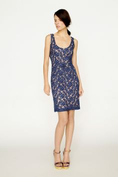 collette by Collette Dinnigan Sleeveless Fitted Lace Dress
