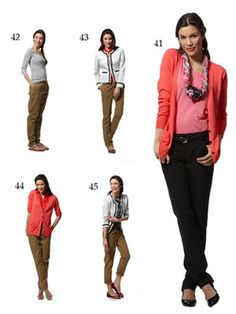20 Summer Pieces - 51 Work & Play Outfits.  (41-45)  Experiment:  belt, tie, and layer your way to new looks.