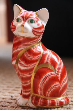 "Royal Crown Derby Paperweight ""Ginger Tom Cat"" - 1st Quality VERY RARE 