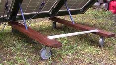 Homestead Solar Panel Frame - adjustable, moveable and DIY!