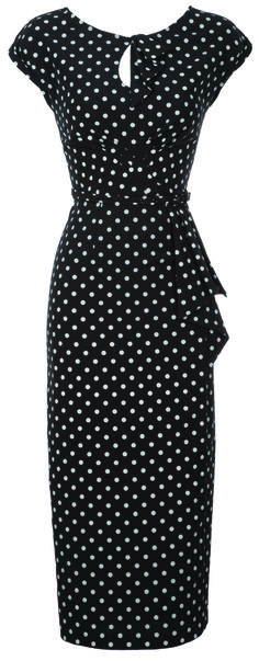 Timeless Dress in Black with Gray Dot $170.00
