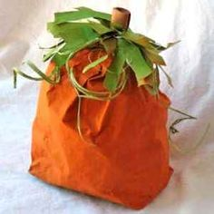 Turn a paper bag into an adorable fall craft!