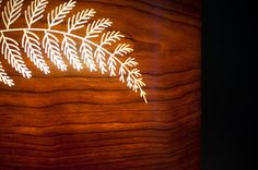 Cherry Pendant Lampshade with fern engraving International Craft, King Furniture, Ferns, Cherry, Lighting, Pendant, Interior, Crafts, Home