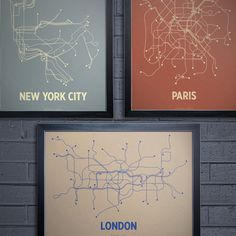 NYC London Paris Print Set now featured on Fab.