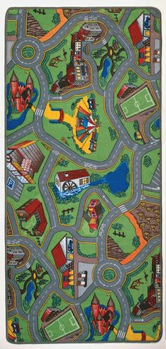 Kids play rug- I loved going to the Woitas house when we were little and Nicole, Andrew and I would play cars on this thing