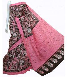 Pink Hand Batik Pure Silk Saree----------- Soft drape batik print elegant saree, young and rich in colour---- For details click on this link---  http://luxurionworld.com/hand-batik-sarees-sari/LWHBST022_Pink_Hand_Batik_Silk_Saree.html