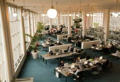 When I wrote this, I was working in a big open office space in the Van Nelle Factory in Rotterdam (see photo). About 100 people work in an office that was the first of its kind in Europe, when it was built in 1929. And more than 80 years later, architecture lovers from all over the world still come to admire it, take pictures, and make drawings.
