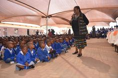 Deputy Minister interacts with Mogereng Primary School learners National Flag, Primary School, Upper Elementary, Elementary Schools