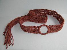 Macramé belt