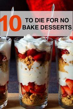 10 to Die For No Bake Desserts