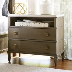 Universal Furniture Playlist Stone Top 2 Drawer Nightstand | from hayneedle.com