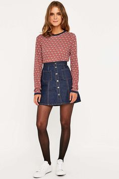 Urban Outfitters Contrast Ringer Diamond Top