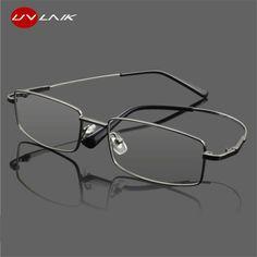 63b41e4c1fe UVLAIK Titanium Glasses Frames Men Women Spectacle Transparent Eyeglasses  Frame Business Eye Glasses Myopia Optical Glasses