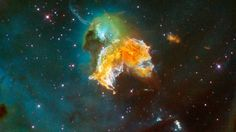 A mass of gas and dust is seen in this Hubble Space Telescope image of a nearby supernova remnant
