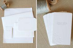 letterpress cards, jose villa, classic