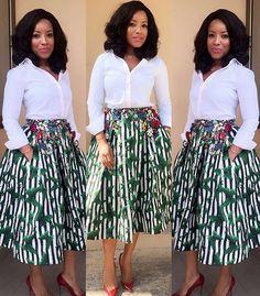"b577551b0f7 StyleVitae on Instagram  "" fashion  design  skirt  white  stylevitae  style   joselyn dumas"""