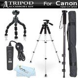 ButterflyPhoto Tripod highest rating deal ButterflyPhoto Tripod Accessory Bundle Kit for Canon Digital SLR Camera (5 items)