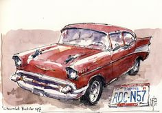 Drawn at Cruise-in in Brunssum, drawn on location.