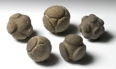Carved Stone Balls from Scotland date to the late Neolithic or early Bronze Age, between 3200 and 1500 BC, and are made of various stone ranging from sandstone to granite. Little is known about them and their purpose is still unknown.