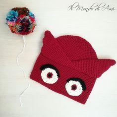 Berretta-gufetta 🦉 #superpigiamini #pjmasks #gufetta #amaya #amigurumi #handmade #crochet #fattoamano #uncinetto #ganchillo #berretto #hat #wool