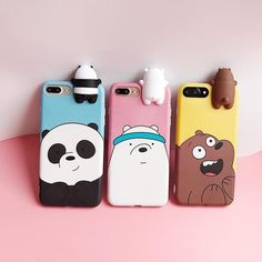 3D Cartoon Animals Cute We Bare Bears Soft Silicone Case Cover Skin For iPhone | eBay