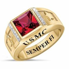 Browse our wide selection of men's rings. Marine Corps Rings, Once A Marine, Blue Rings, Usmc, Jewelries, Gold Jewelry, Pride, Room Ideas, Fashion Jewelry
