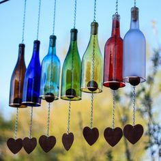 750ml Wine Bottle Wind Chime - Bottles Uncorked