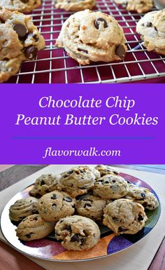 These cookies are soft, chewy and a perfect combination of chocolate and peanut butter!