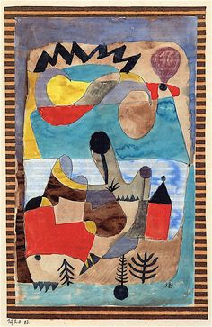 "djinn-gallery: "" paul klee Castle Landscape with Black Lightning """