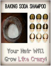 Baking Soda Shampoo: Your Hair Will Grow Like Crazy! Baking Soda Shampoo: Your Hair Will Grow Like Crazy! Baking Soda Shampoo, Baking Soda Uses, Natural Hair Care, Natural Hair Styles, Natural Skin, Natural Facial Cleanser, Hair Loss Remedies, Thinning Hair Remedies, Hair Loss Treatment