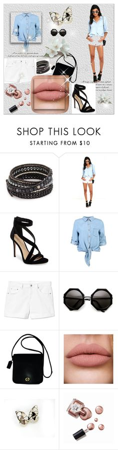 """Untitled #18"" by eldina12 ❤ liked on Polyvore featuring beauty, Chan Luu, O2 Denim, Imagine by Vince Camuto, Boohoo, Gap, Coach and Ciaté"