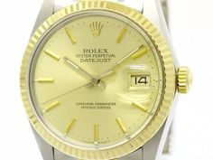 Polished #ROLEX Datejust 16013 R Serial Solid Gold Steel Automatic Watch BF108910: Authenticity guaranteed, free shipping worldwide & 14 days return policy. Shop more #preloved brand items at #eLADY: http://global.elady.com