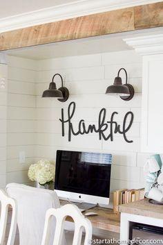 Farmhouse Pantry Overhaul on a Budget | Room Makeover | Farmhouse Design | Reclaimed Wood | Wood Beams