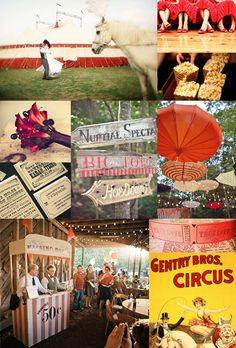 red and yellow carnival wedding inspiration