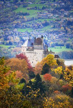 Menthon Saint-Bernard: a fairy-tale castle above Lake Annecy, French Alps. . . . #HauteSavoie #SavoieMontBlanc #Menthon #FrenchAlps #Alps #Castle #chateau