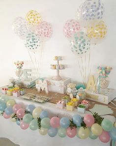 Candy bar first communion - Ava Geburtstag - Bunny Birthday, Birthday Candy, Birthday Parties, Candy Bar Comunion, Deco Ballon, Pastel Candy, Candy Table, Candy Bar Party, 1st Birthdays