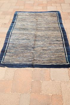 Antique Chinese Peking Rug with running water in cobalt blue, sky blue, powder blue and ivory