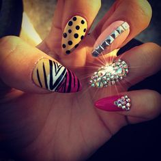 15 Stiletto Nail Art Ideas You Won't Miss - Pretty Designs