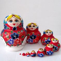 Free Shipping!high Quality Colorful 10pcs Wooden Russian Nesting Doll Toy Russian Doll Wishing Dolls Handmade 1065 -- New and awesome product awaits you, Read it now  : Collectible Dolls for Home Decor