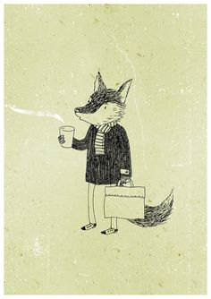 Mr. Fox and coffee.