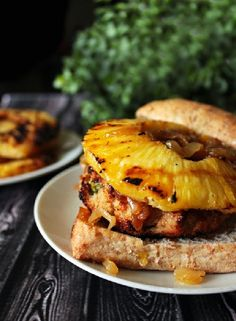 Low FODMAP Recipe and Gluten Free Recipe - Chicken & pineapple burger www.ibssano.com/...