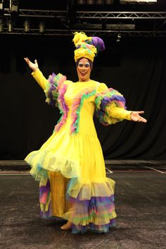 Carmen Miranda Pantomime Dame Theatre Costume - bright, bold and bespoke