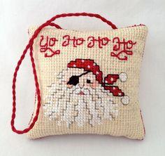 Christmas Ornament Yo Ho Ho Ho Pirate Santa by Rishastitchery, $13.00