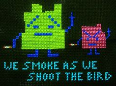 I would use a different quote. Cross Stitches, Cross Stitch Embroidery, Cross Stitch Patterns, Funny Stuff, Aqua Teen Hunger Force, Kawaii Cross Stitch, Different Quotes, Entertainment Center