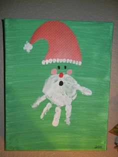 Handprint Santa Face!  Simple HOW TO steps on blog!