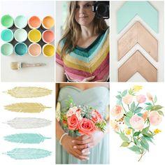 Mood Board Monday - Mint Plus — Tanis Fiber Arts Tanis Fiber Arts, Spring Painting, Watercolor Flowers, Watercolour, Color Theory, Art Blog, Color Inspiration, Color Combinations, Paint Colors