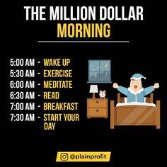 """""""The Million Dollar Morning"""" Entrepreneur Motivation, Business Motivation, Business Quotes, Motivation Success, Study Motivation, Business Entrepreneur, Motivation Quotes, Business Marketing, Media Marketing"""