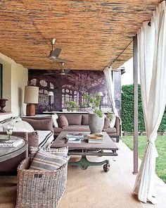Outdoor Living | Rustic and cozy, just right for a lazy Sunday afternoon.